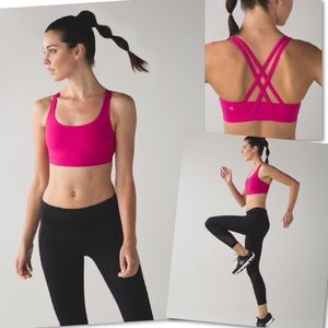 Lululemon Energy Jewelled Magenta Sports Bra SZ 6